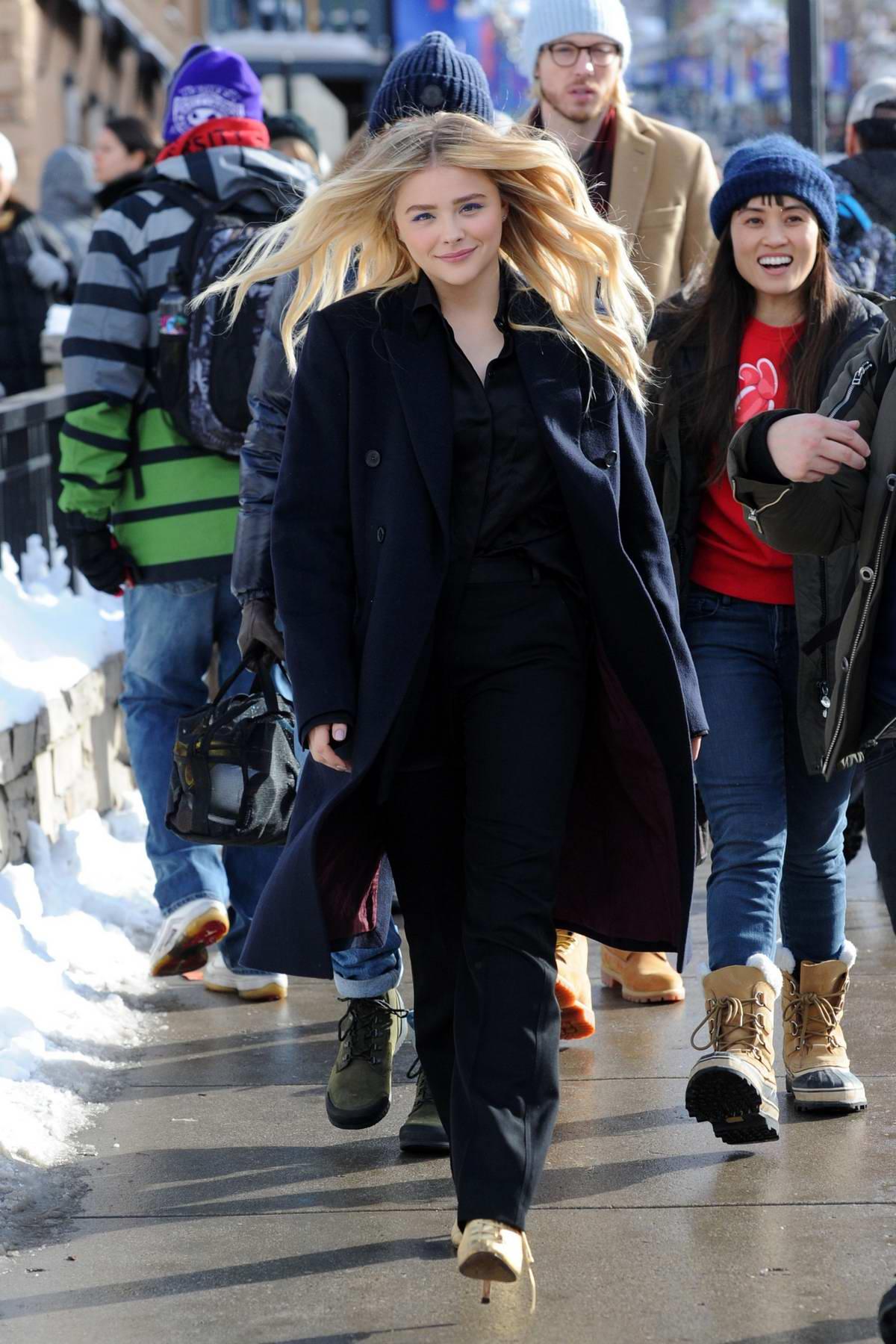 Chloe Grace Moretz promotes her film at the Sundance Film Festival in Park City, Utah