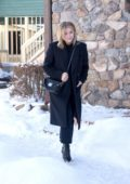 Chloe Grace Moretz takes a walk in the snow during Sundance Film Festival in Park City, Utah