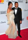 Chrissy Teigen and John Legend at the Clive Davis and Recording Academy Pre-Grammy Gala in New York City