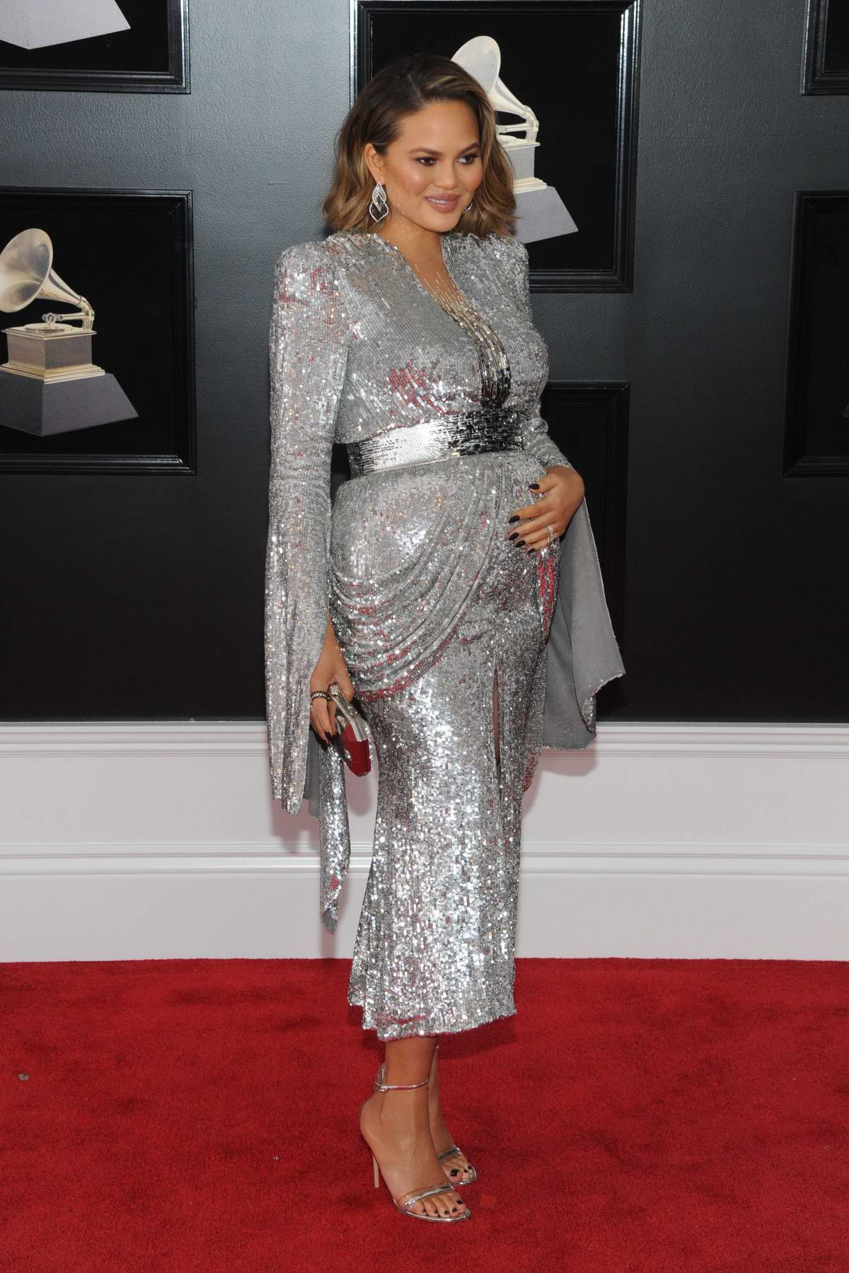 Chrissy Teigen attends the 60th Annual Grammy Awards at Madison Square Garden in New York