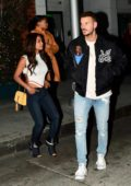 Christina Milian and Matt Pokora leaving after enjoying dinner at Mr Chow in Beverly Hills, Los Angeles