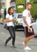 Christina Milian enjoys a day out shopping with Matt Pokora in Los Angeles