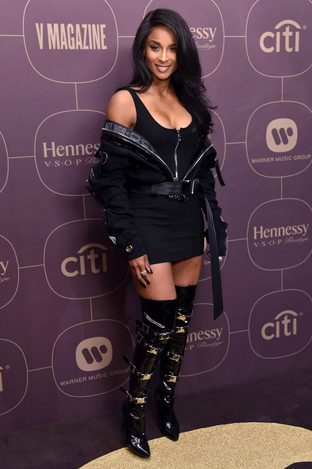 Ciara at Warner Music Pre-Grammy Party in New York City