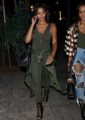 Claudia Jordan heads to the Delilah Restaurant with her friend in West Hollywood, Los Angeles