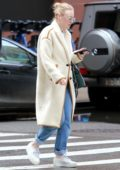 Dakota Fanning heads for a class at New York University