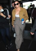 Demi Lovato seen arriving at LAX airport in Los Angeles