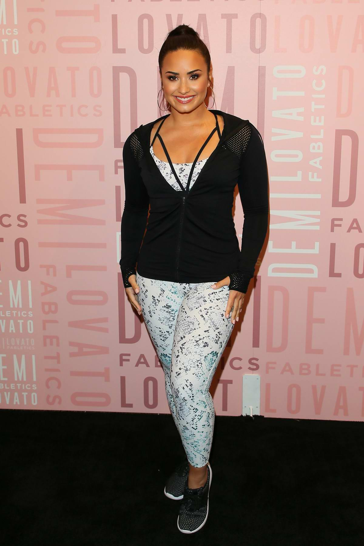 Demi Lovato visits Fabletics at Del Amo Fashion Center in Torrance, California