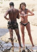Doutzen Kroes in a bikini continues to enjoy her brazilian getaway with her husband in Bahia, Brazil