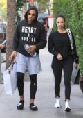 Draya Michele and Orlando Scandrick out for some shopping after lunch in Beverly Hills, Los Angeles
