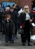 Elle Fanning and Peter Dinklage promote their film at the Sundance Film Festival in Park City, Utah