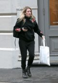 Ellie Goulding stepped out in a black hoodie paired with matching black pants and boots while shopping in New York City
