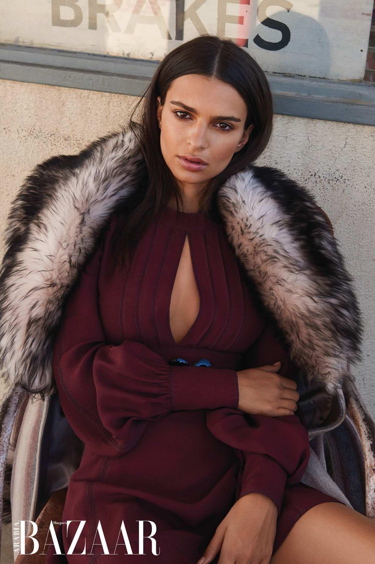 Emily Ratajkowski features in Harper's Bazaar, Arabia - January 2018