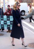 Emily VanCamp seen as she leaves AOL Build Studios in New York City