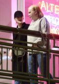 Emma Stone leaves Sushi Park Restaurant with her mother in West Hollywood, Los Angeles