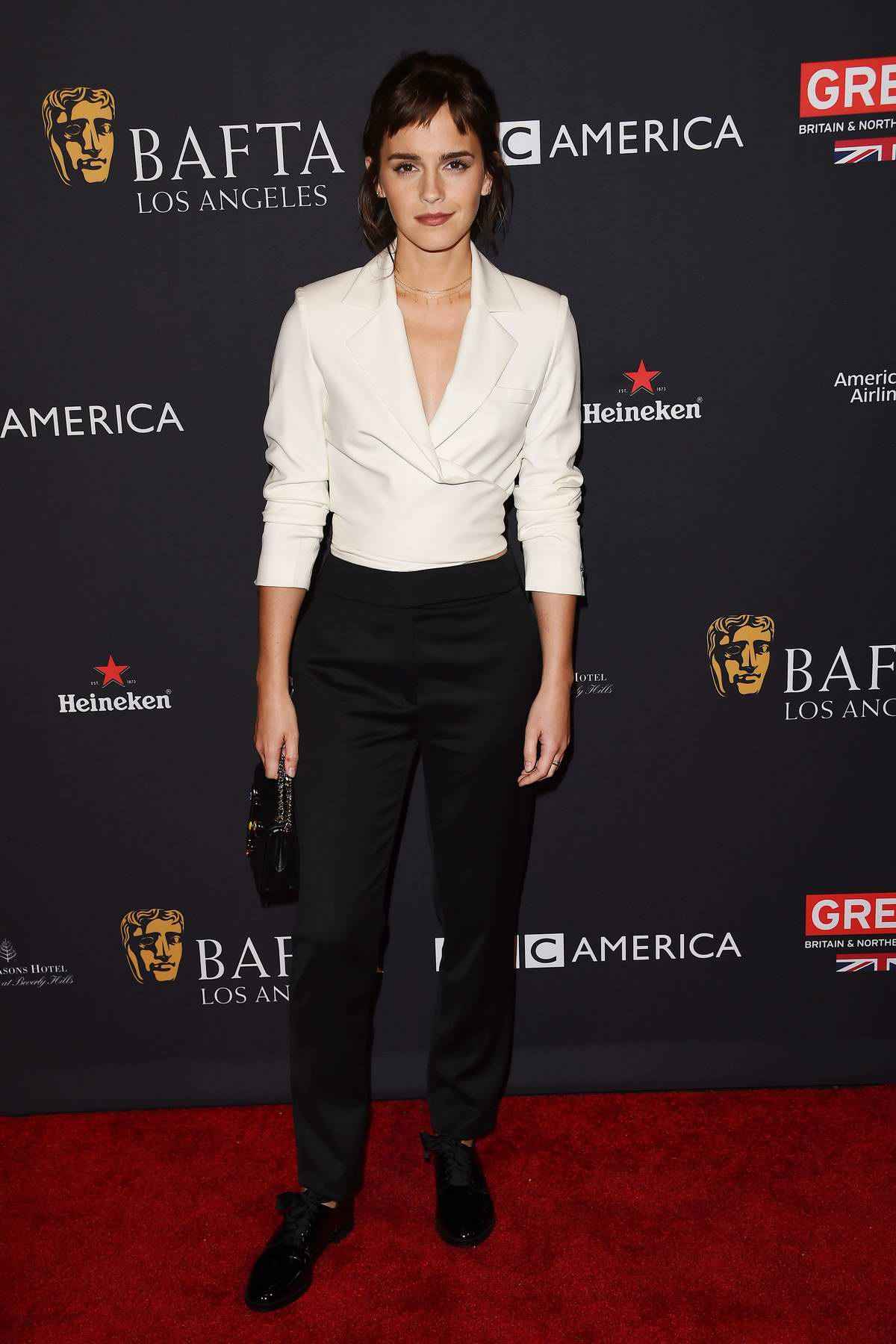 Emma Watson attends The BAFTA 2018 Los Angeles tea party at the Four Seasons Hotel in Beverly Hills, Los Angeles