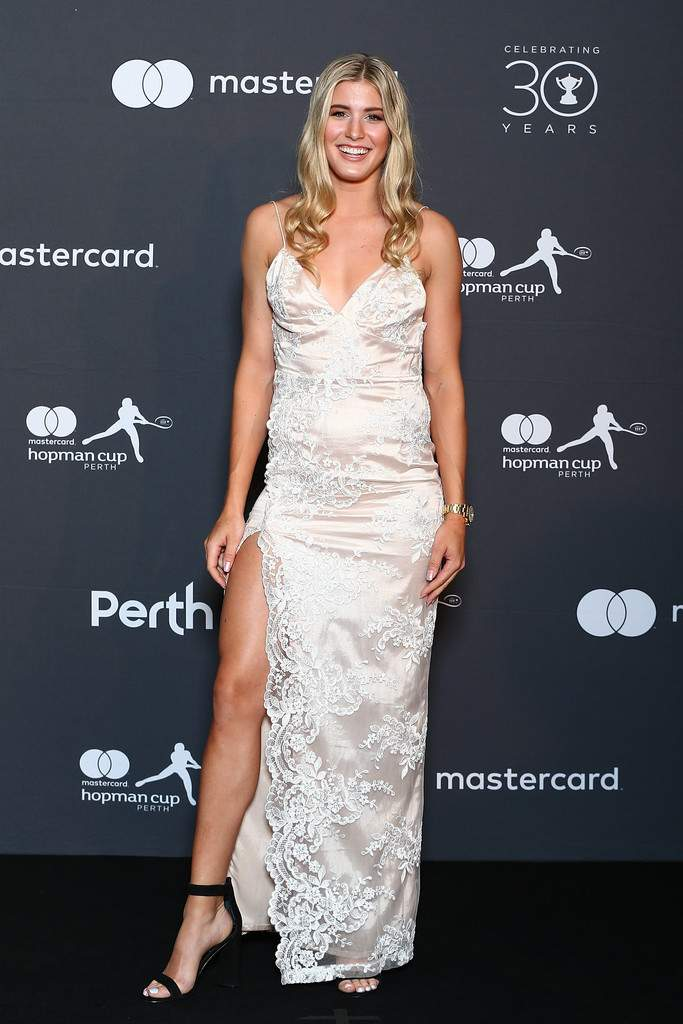 Eugenie Bouchard and Vasek Pospisil at Hopman Cup New Year's Eve Players Ball in Perth, Australia