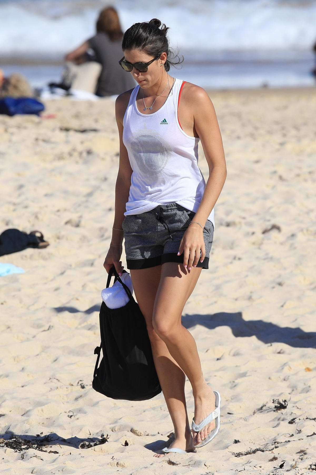 Garbine Muguruza spotted at the Bondi beach with her coach in Sydney, Australia