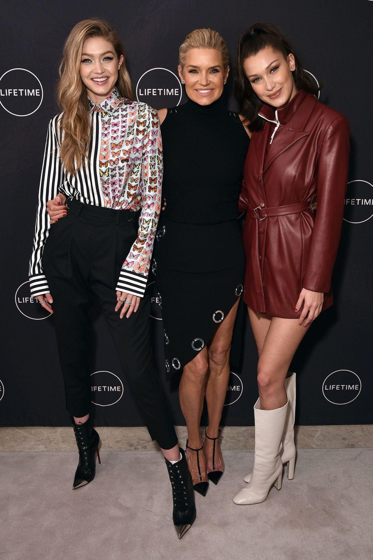 Gigi and Bella hadid at 'Making A Model With Yolanda Hadid' premiere in New York City