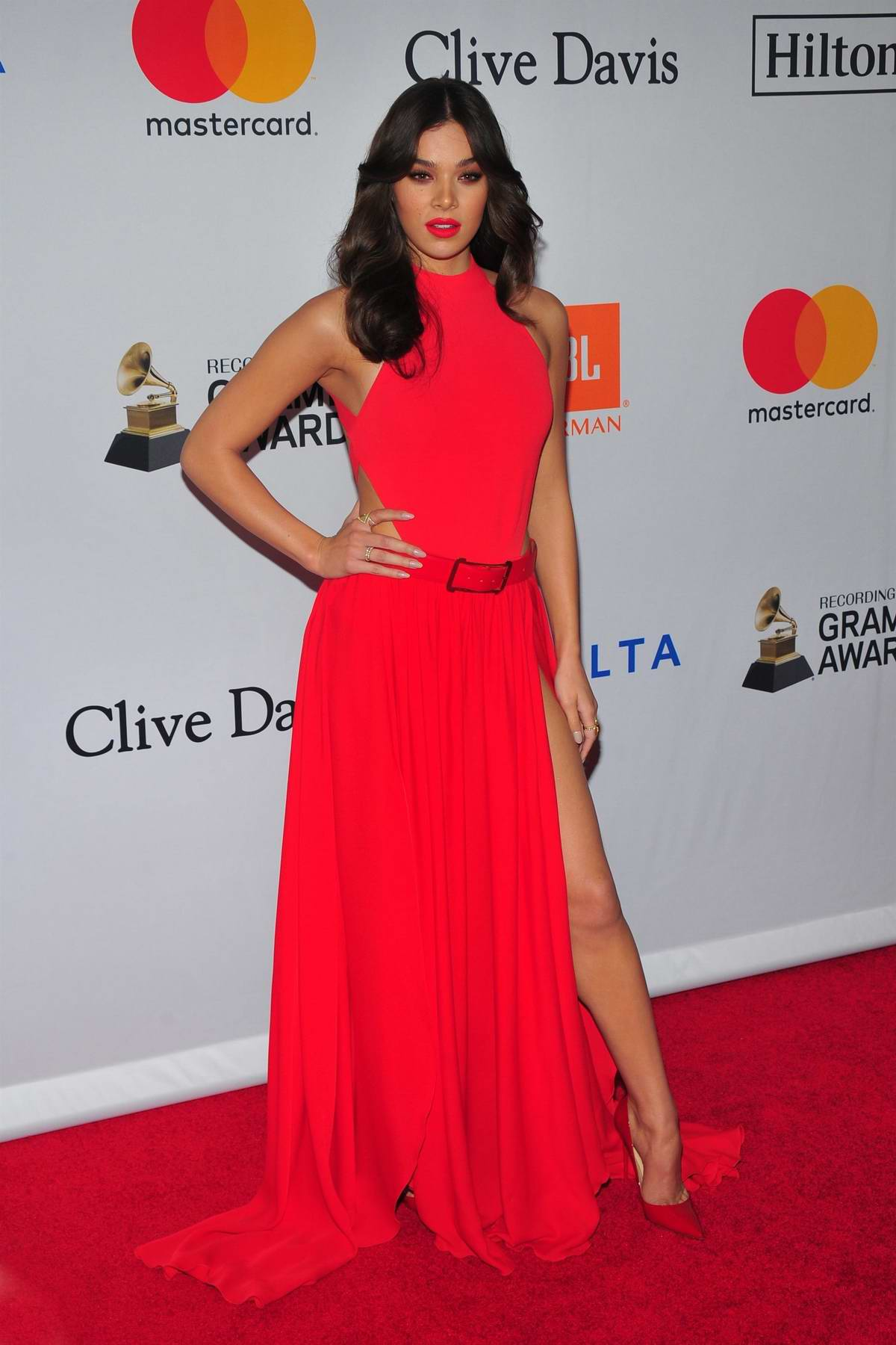 Hailee Steinfeld at the Clive Davis and Recording Academy Pre-Grammy Gala in New York City