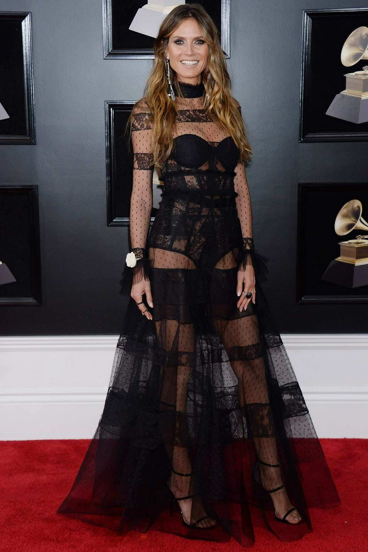 Heidi Klum attends the 60th Annual Grammy Awards at Madison Square Garden in New York
