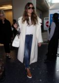 Heidi Klum touch down at LAX after attending the Grammy Awards in New York