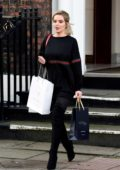 Helen Flanagan spends a day at a spa in Liverpool, UK