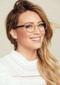 Hilary Duff features in promotional photoshoot for Hilary Duff Collection with Glassesusa 2018