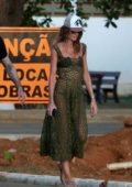 Izabel Goulart and boyfriend Kevin Trapp out with Brazilian actor Bruno Gagliasso in Fernando de Noronha, Brazil