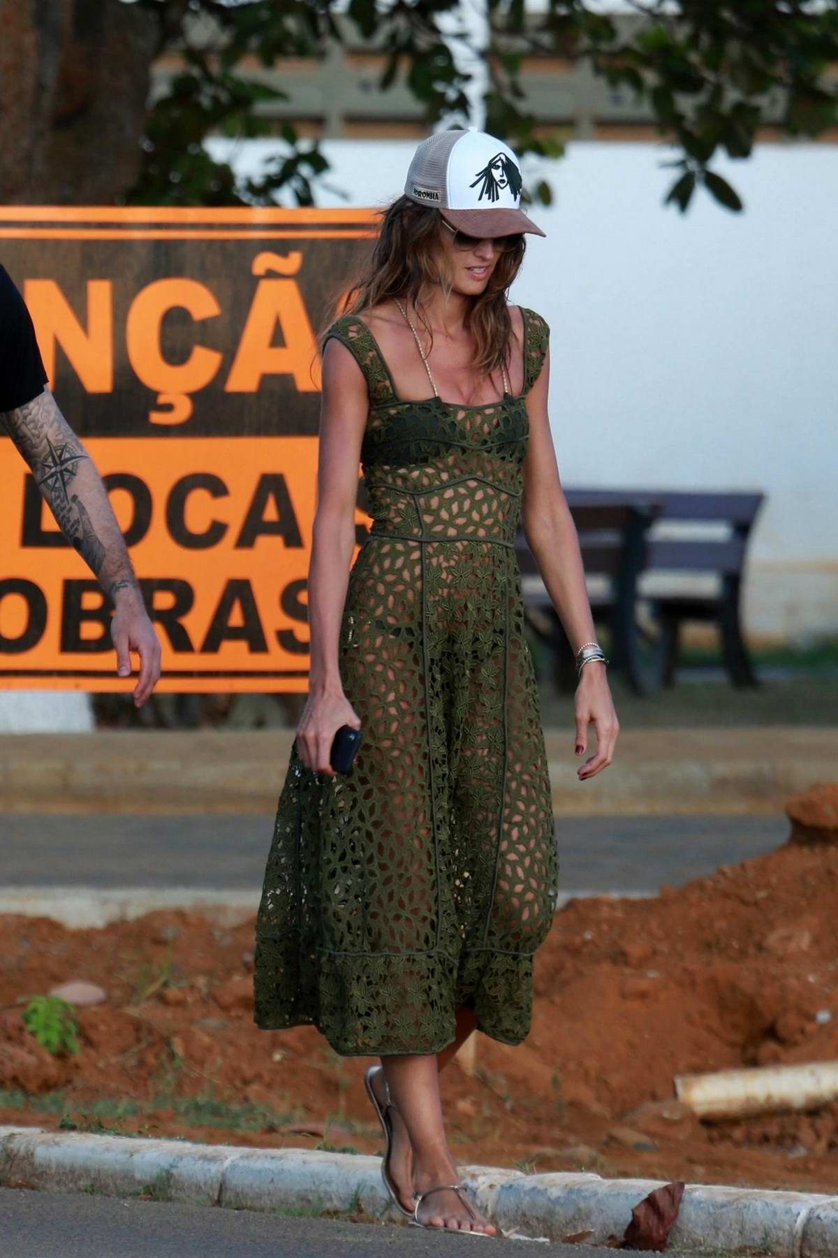 Izabel Goulart and boyfriend Kevin Trapp out with Brazilian actor Bruno Gagliasso in Fernando de Noronha, Brazil
