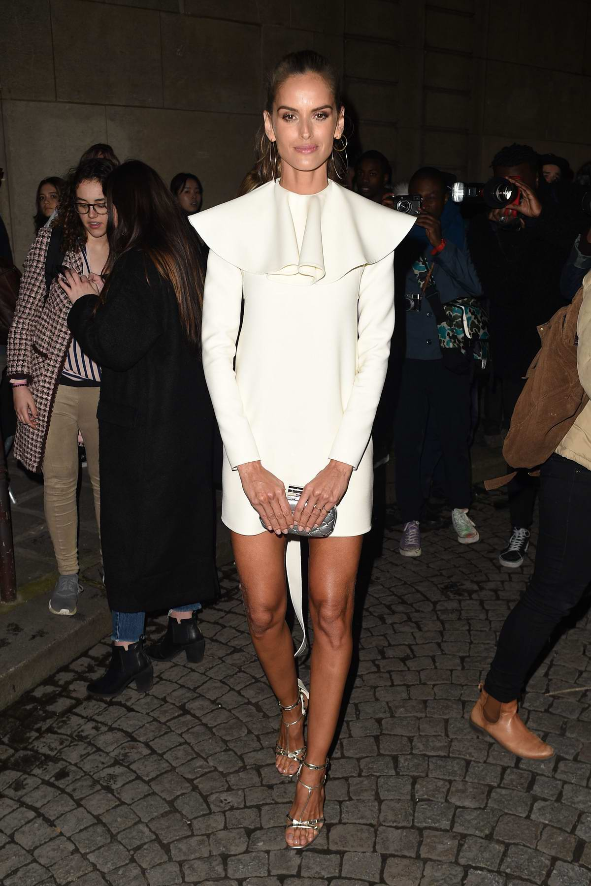 Izabel Goulart attends the Valentino Fashion Show during Paris Fashion Week in Paris, France