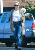 Jennifer Lawrence puts her hair up for a casual day to do a little shopping in Beverly Hills, Los Angeles