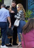 Jennifer Lopez out for a family lunch with Alex Rodriguez in Miami, Florida