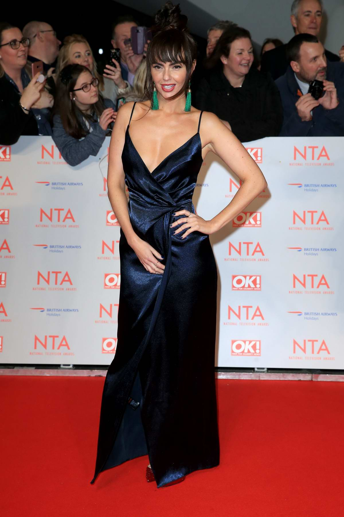 Jennifer Metcalfe attends National Television Awards at The O2 Arena in London
