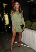 Jessica Shears spotted on a girls night out at Menagerie in Manchester, UK
