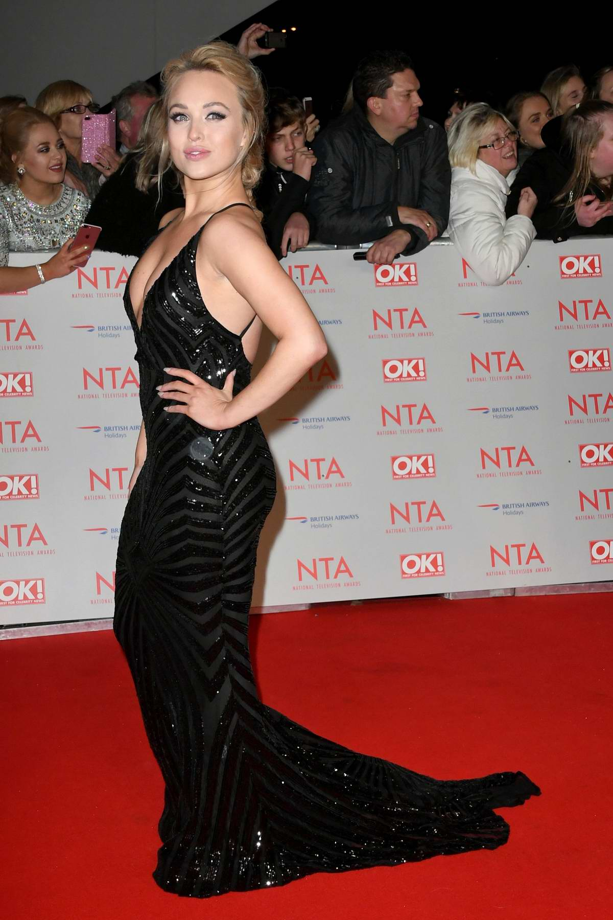 Jorgie Porter attends National Television Awards at The O2 Arena in London