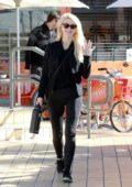 Julianne Hough dressed in all black outfit grabs breakfast in Studio City, Los Angeles