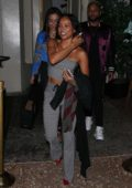 Karrueche Tran enjoys a night out with friends at Delilah in West Hollywood, Los Angeles