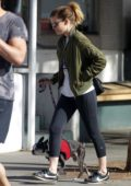 Kate Mara takes her dog to the hospital in Los Angeles
