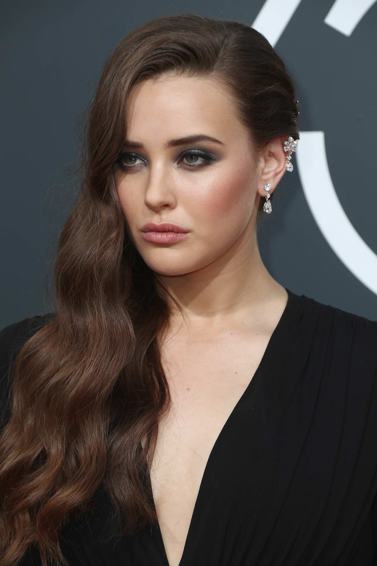 Katherine Langford attends the 75th Annual Golden Globe Awards in Beverly Hills, Los Angeles