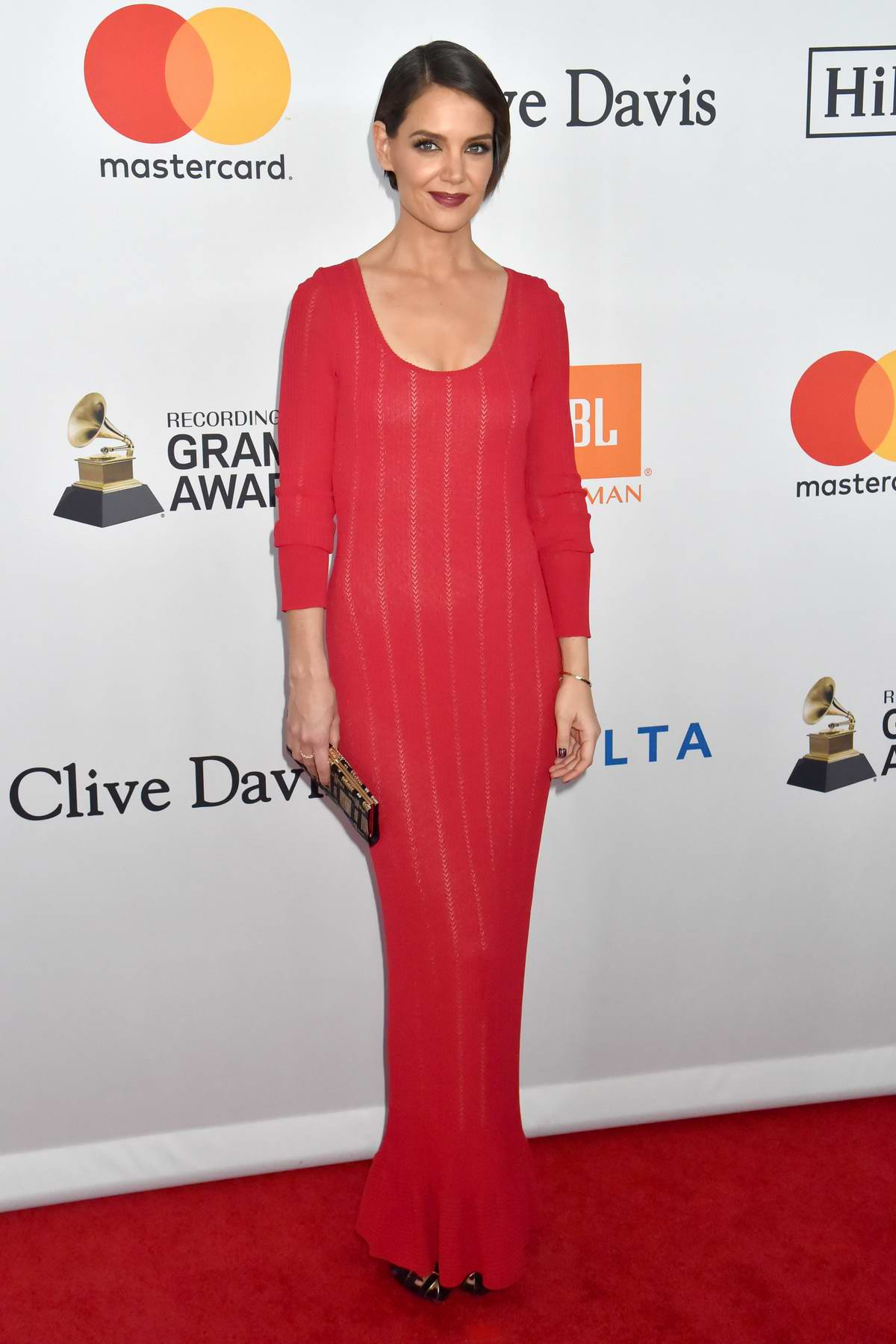 Katie Holmes at the Clive Davis and Recording Academy Pre-Grammy Gala in New York City