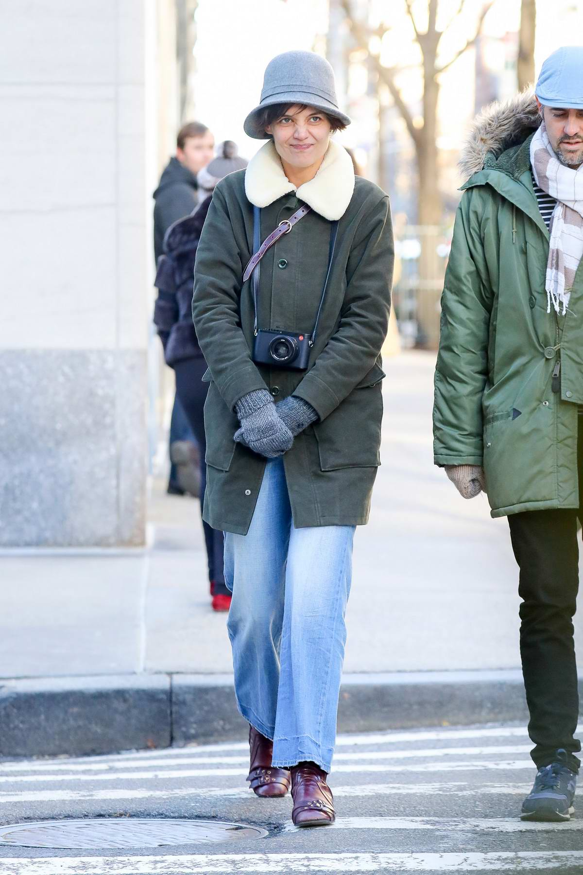 Katie Holmes out to see the show 'Michelangelo: Divine Draftsman and Designer' at the Metropolitan Museum of Art in New York City