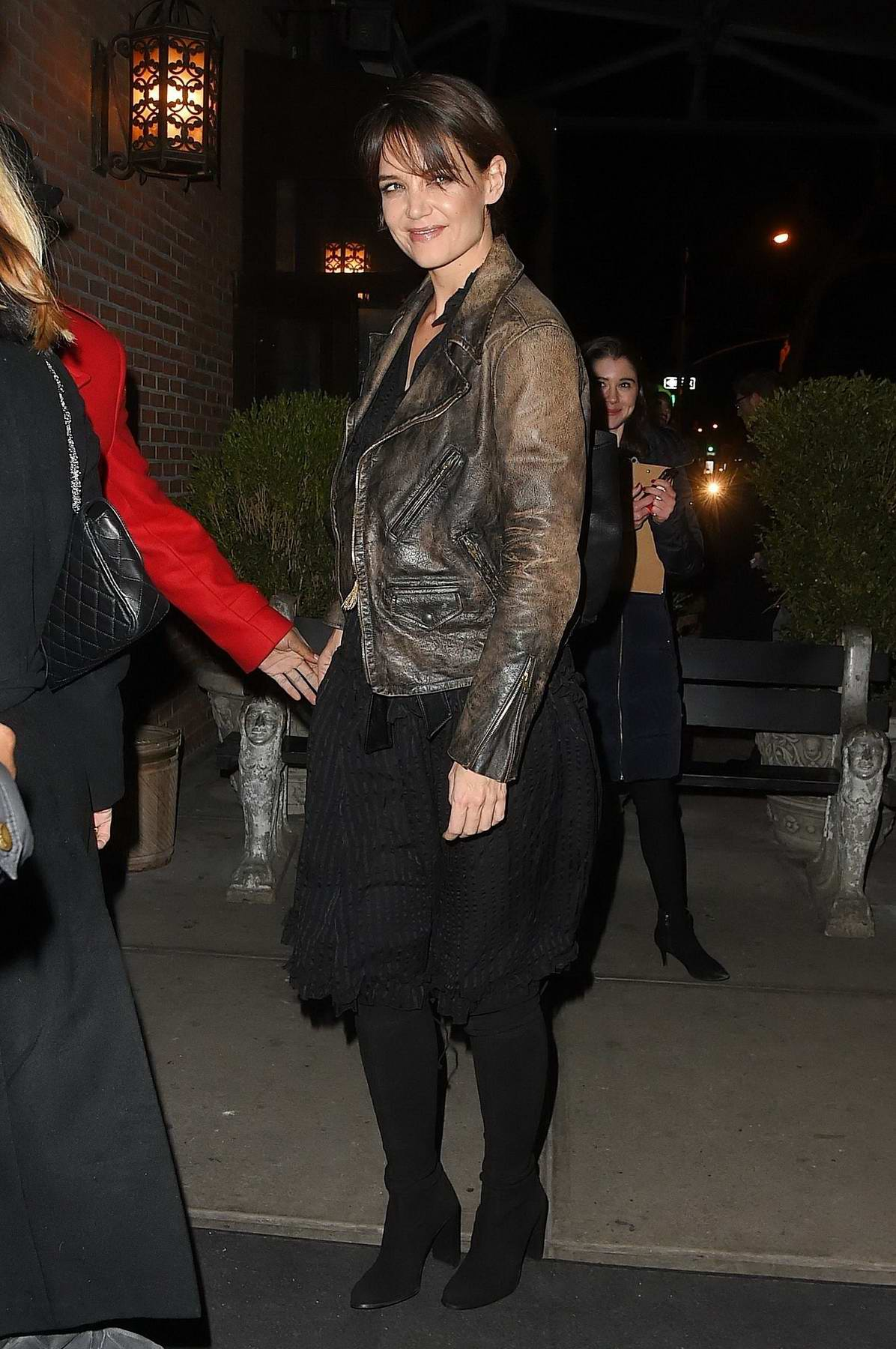 Katie Holmes spotted outside The Bowery Hotel in New York City