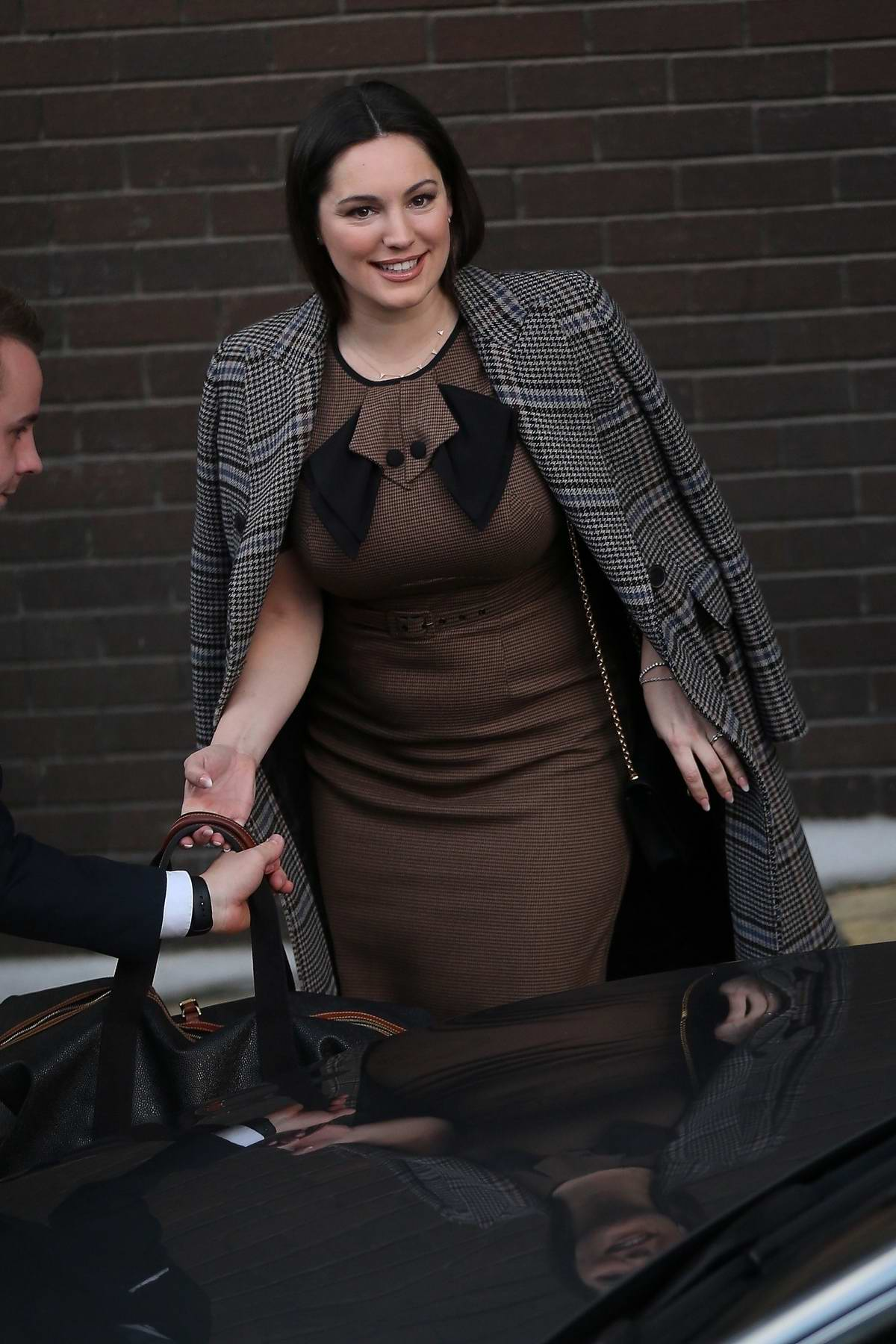 Kelly Brook leaving after making an appearance on 'Loose Women' TV show at the ITV studios in London