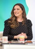 Kelly Brook makes an appearance on ITV's Loose Women in London