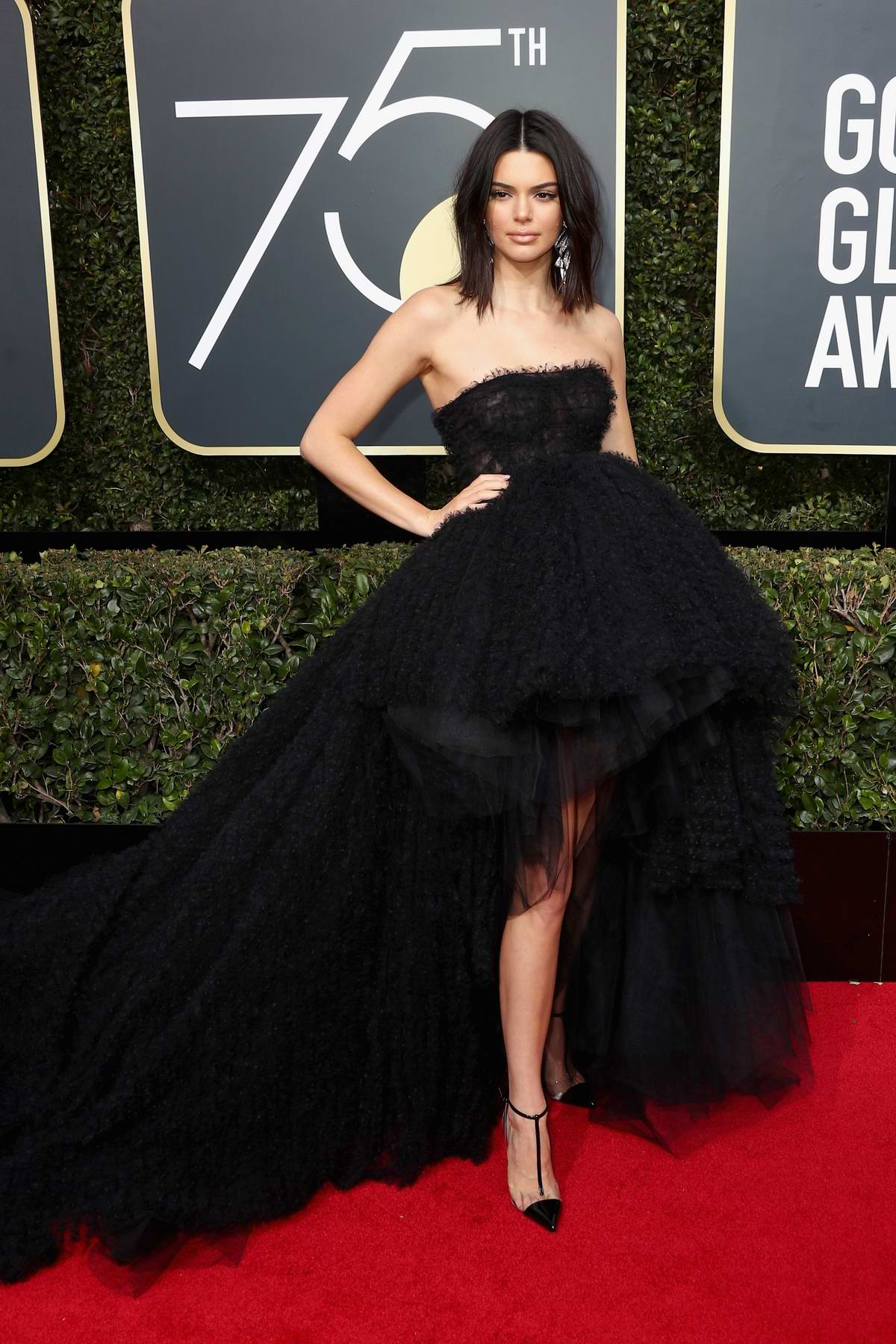 Kendall Jenner attends the 75th Annual Golden Globe Awards in Beverly Hills, Los Angeles