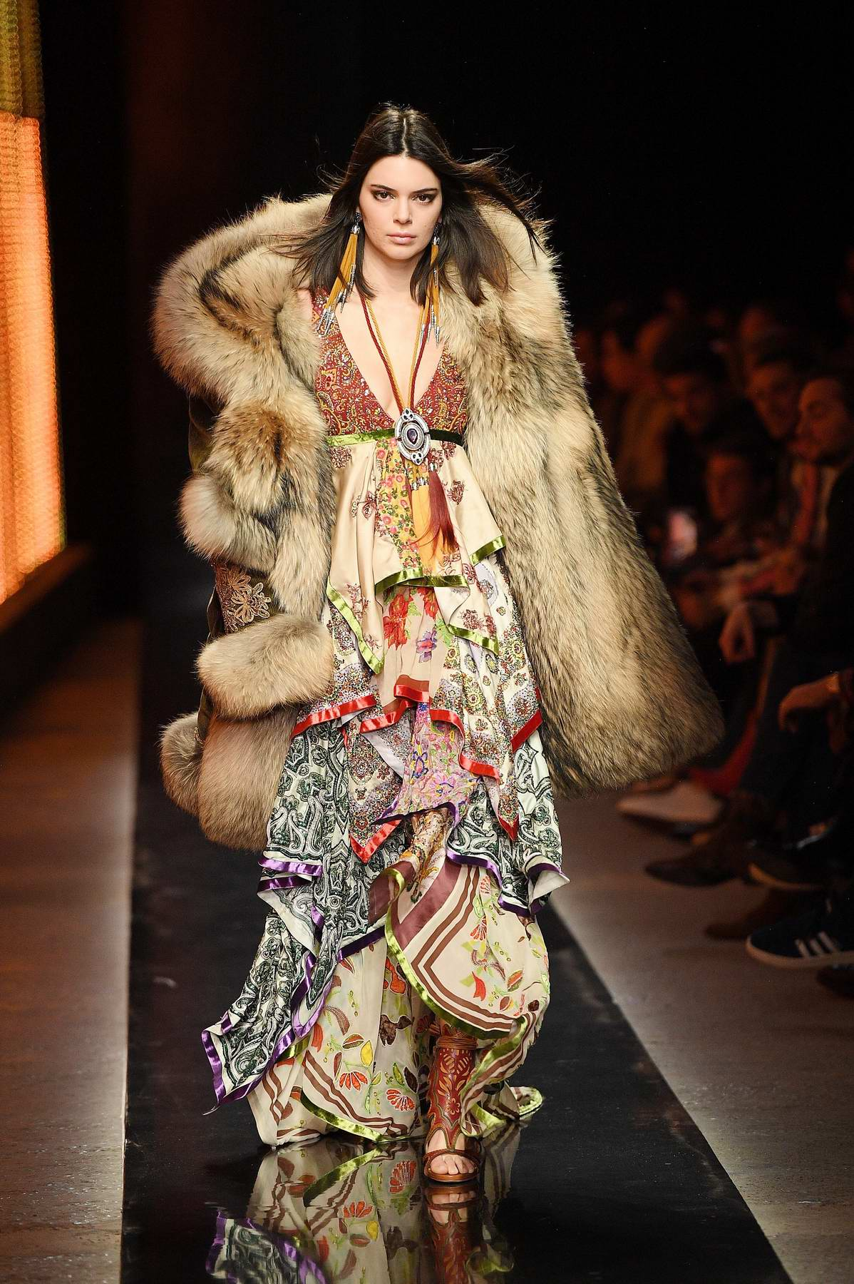 Kendall Jenner walks the runway at the Dsquared2 show ...