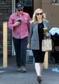 Kirsten Dunst shows off her growing baby bump while out with fiance Jesse Plemons in Studio City, Los Angeles
