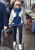 Kylie Minogue seen leaving the Cafe Flore in Paris, France