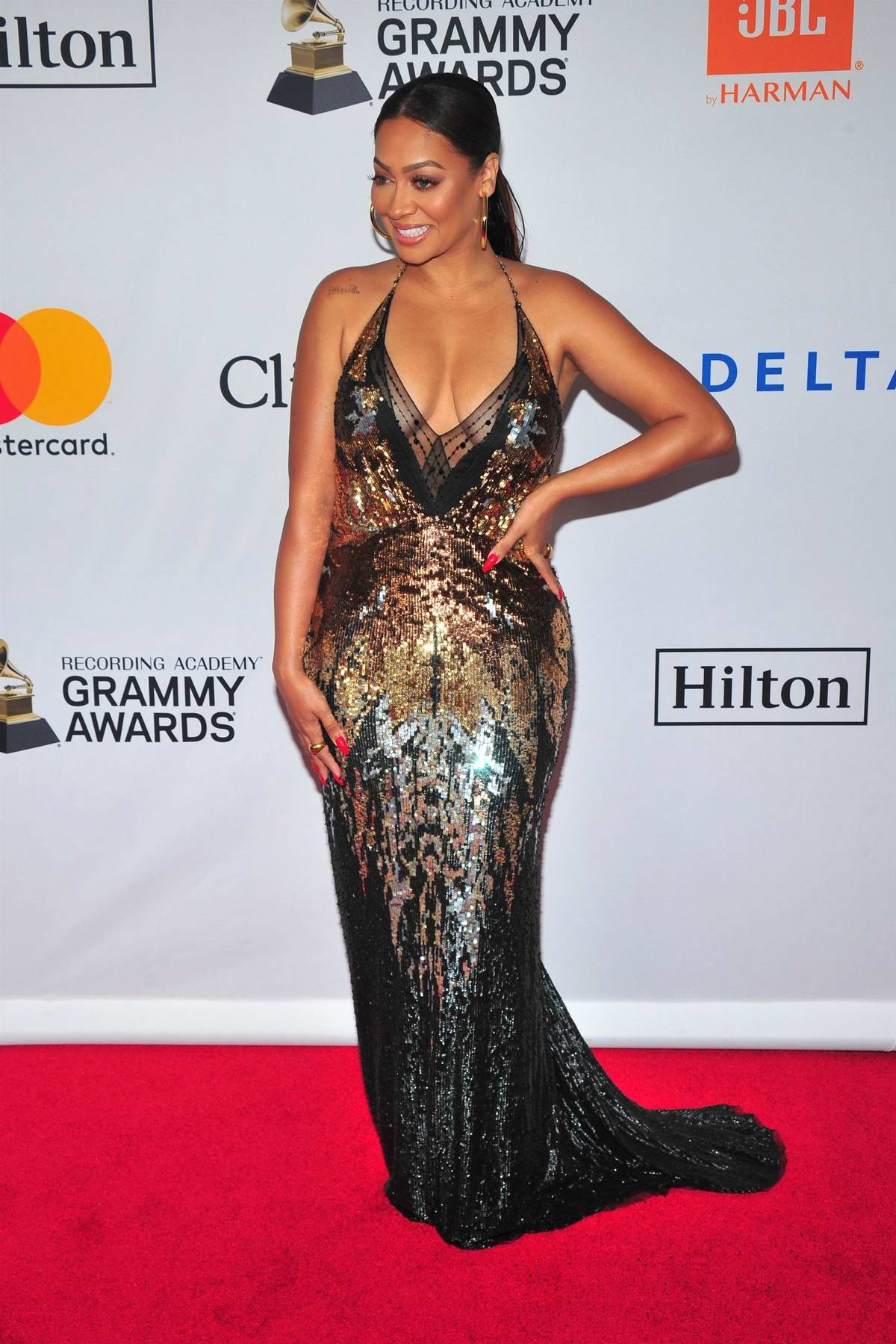 La La Anthony at the Clive Davis and Recording Academy Pre-Grammy Gala in New York City