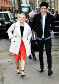 Lucy Fallon and boyfriend Tom Leech spotted outside ITV studios in London